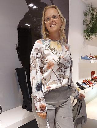 Knit-ted Blouse Tessa Ivory multi