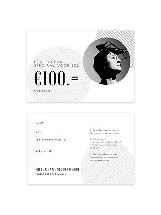 Cadeaukaart ter waarde van 100.00 euro