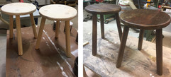 Stained Rustic Wooden Stools.jpg