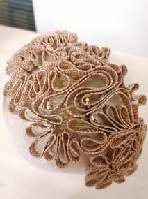 Headpiece Strohborte - beige