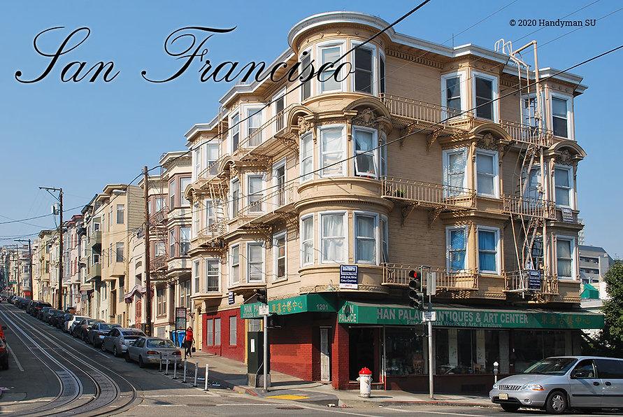 Деревянные столбы и трансформаторы на улице в Сан-Франциско