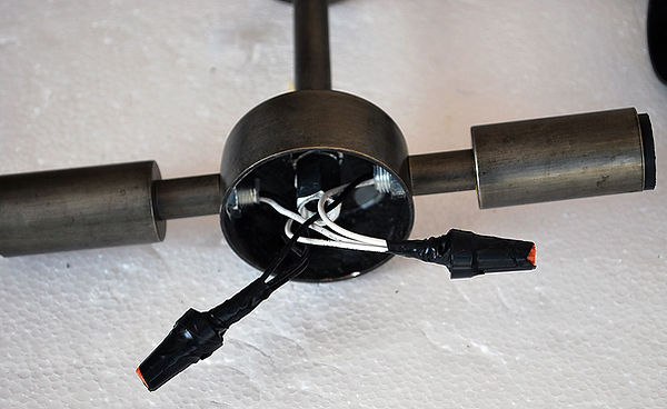 Часть американской люстры с патронами E14
