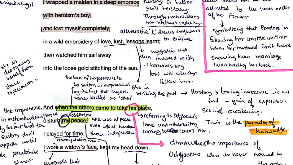 Duffy's Penelope: Fully Annotated