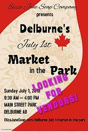 Delburne July 1 Market in the Park
