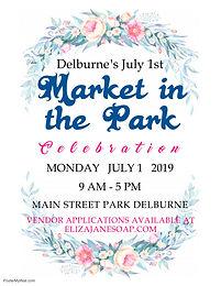 Delburne July 1 Market in the Park 2019 (1)