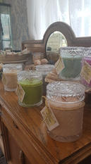 Handcrafted Candles ~Large Glass jars
