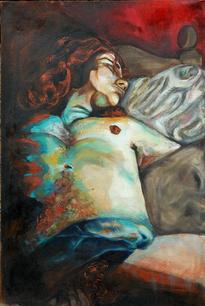 Gerard. Oil on hessian. 1.10 m x 75 cm. 2006.