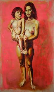 Debutantes. Oil on linen. 1.60m x 95 cm. 2008.