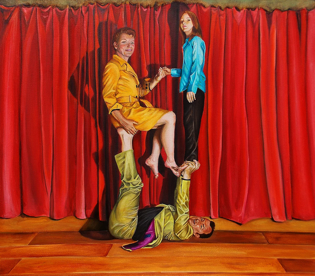 Goode-Galbraith Family Portrait. Oil on linen. 80 x 60 cm. 2011.
