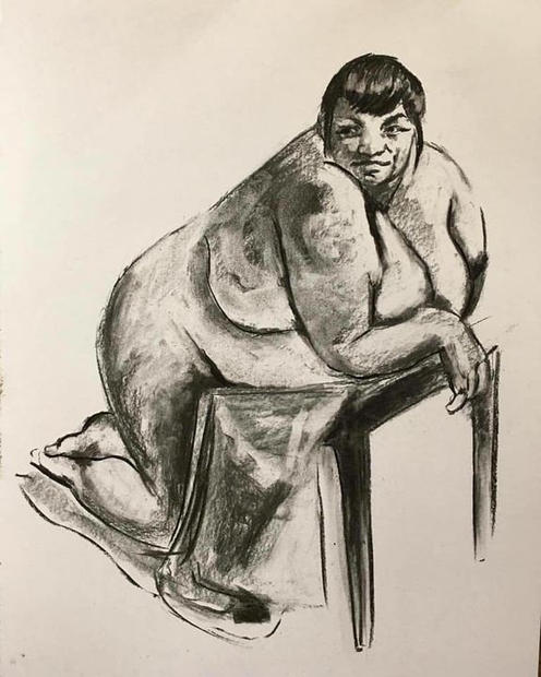 Leonora. Charcoal on paper. A2. 2019.