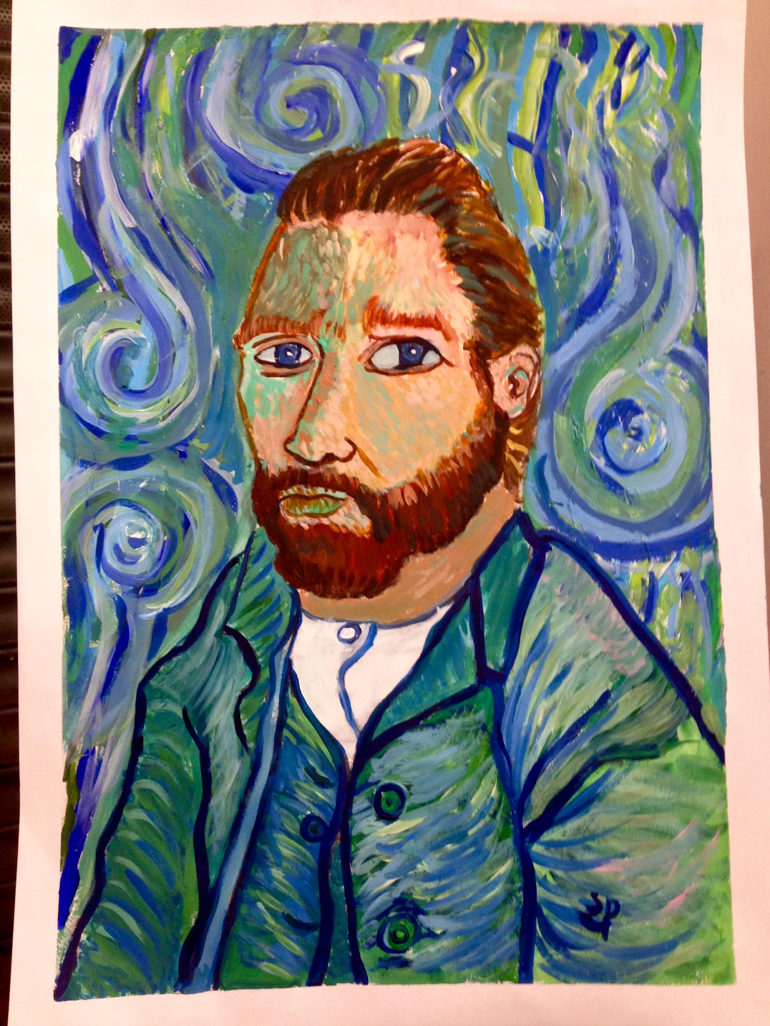 Copied from Van Gogh. Student aged 8