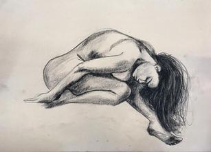 Sketch of Carla. Conte on paper. 2017.
