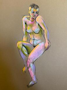 Emilie. Soft pastel on paper. A2. 2021.