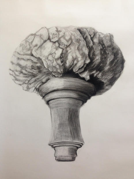 Study of a nuclear explosion. Charcoal on paper. 2015...