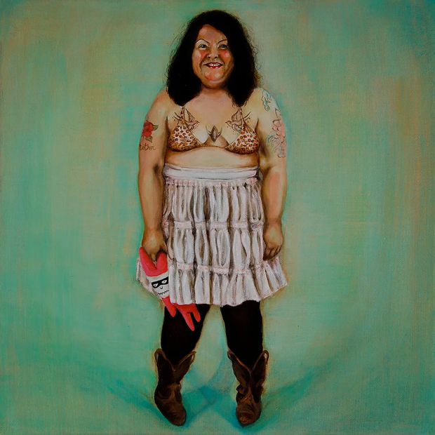 Angie. Oil on linen. 50 x 50 cm. 2009.