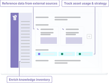 Mobilize knowledge through data referencing, building knowledge inventory and track data usage