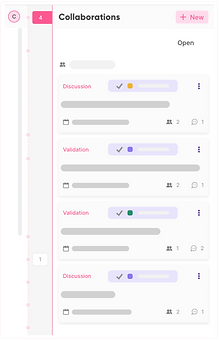 All collaboration and messages within a use case are accessible on the overview page