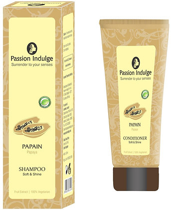 Papain Shampoo And Conditioner For Soft And Shiny Hair (Combo)