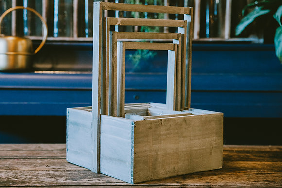 Gray Square Nesting Boxes