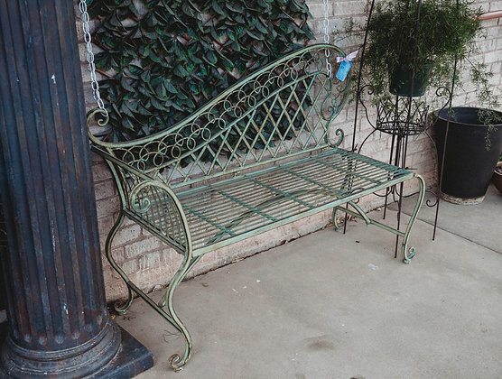 Green Iron Garden Chaise