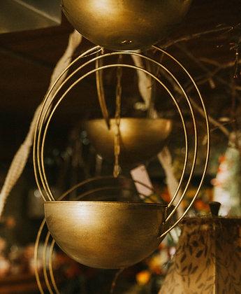 """Hanging Gold Bowl - 10"""""""