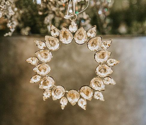 "4"" Rhinestone Wreath Ornament"