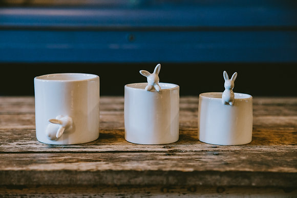 Ceramic Bunny Containers (3 Sizes)