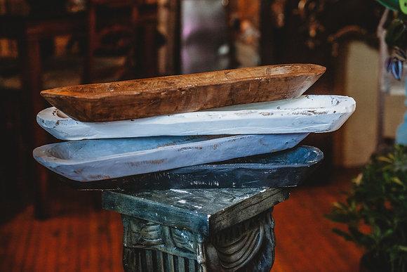 Wood Dough Bowls - Long