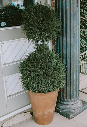 4.5ft Potted Silk Topiary