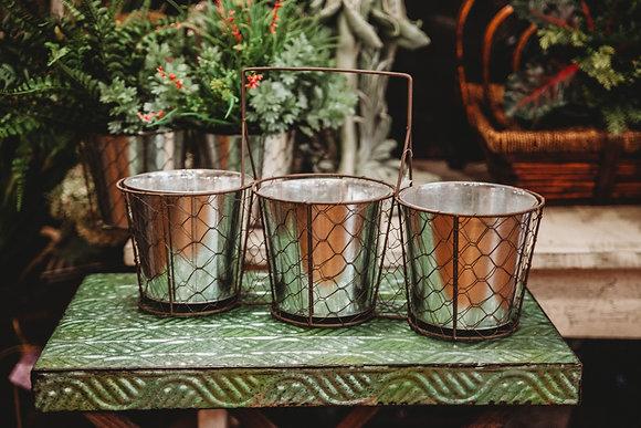 Triple Pot Planter