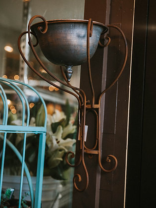 Iron-Wrought Dish Wall Mount