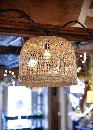 Woven Seagrass Lantern - Drum