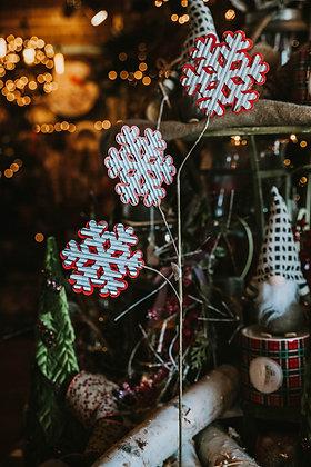 Corrugated Snowflake Picks