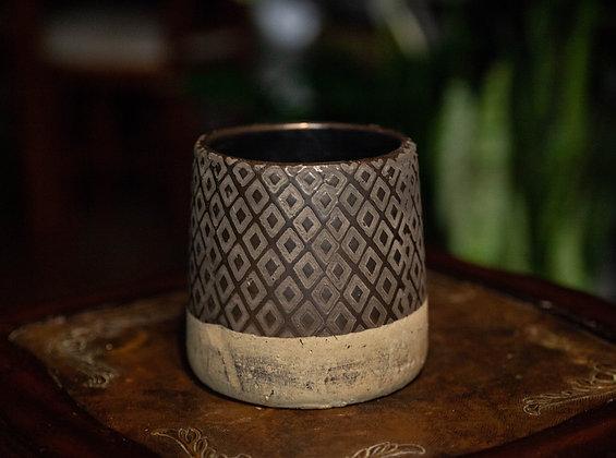 """4.5"""" Diamond Pattern Vase"""