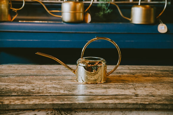 Polished Gold Watering Can