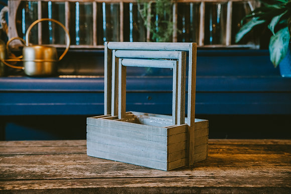 Gray Rectangle Nesting Boxes