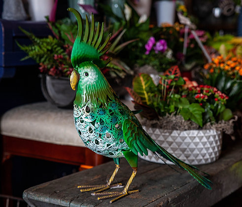 Metal Cockatoo Decor