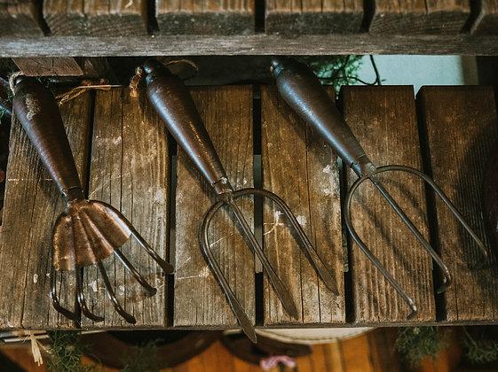 Assorted Gardening Forks
