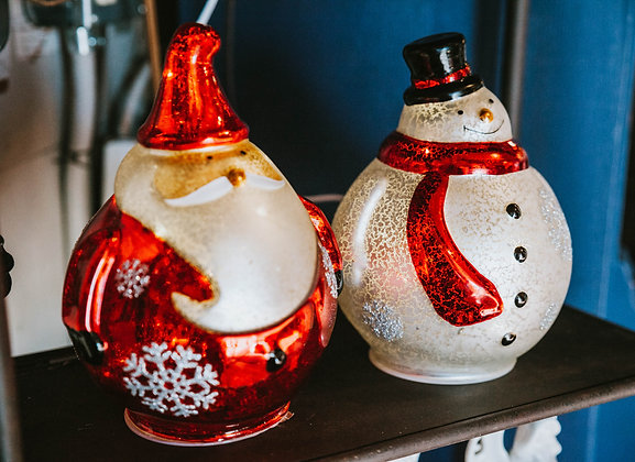 Light Up Santa/Snowman