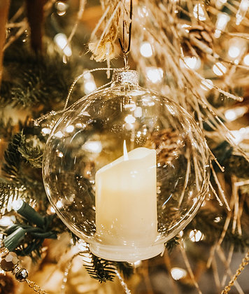 Light Up Candle Bulb Ornament
