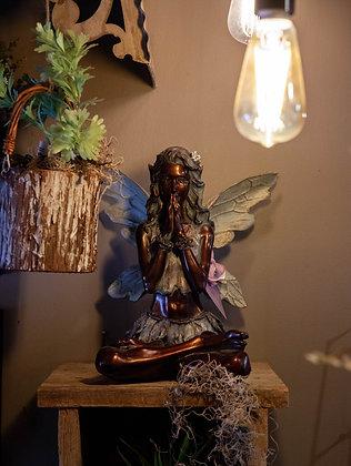 Garden Fairy Statue - Meditating