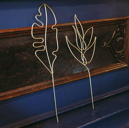 Gold Plant Picks