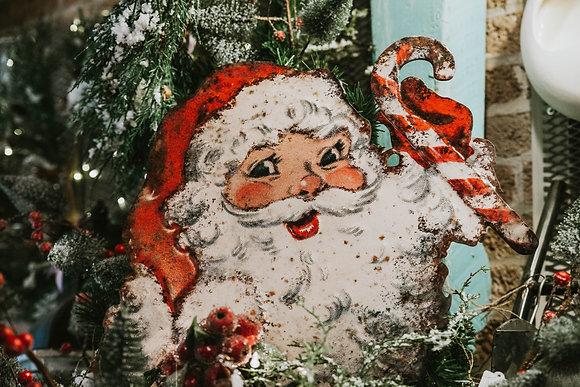 Metal Vintage Santa