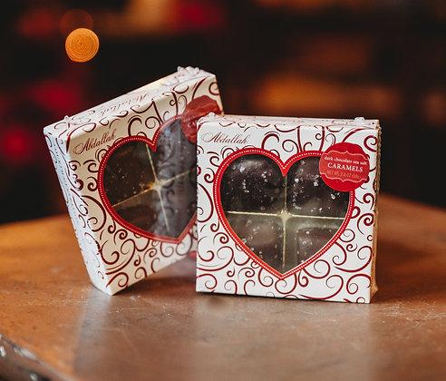 Dark Chocolate Sea Salt Caramels Box