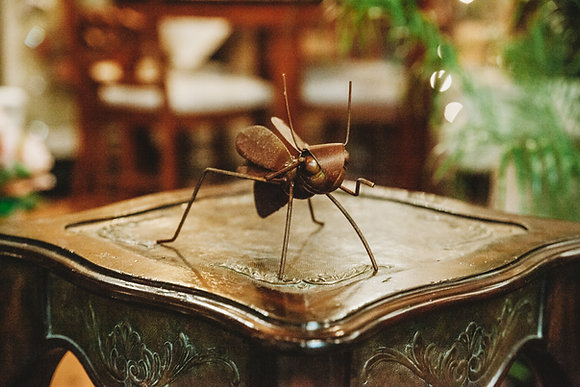 Metal Wasp Decor