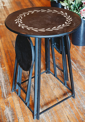 Patio Table with Folding Stools