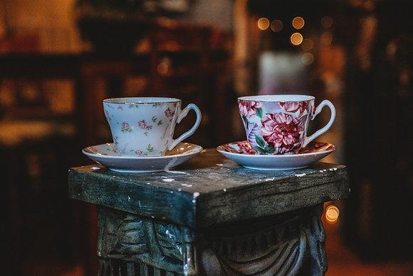Floral Teacups & Saucers