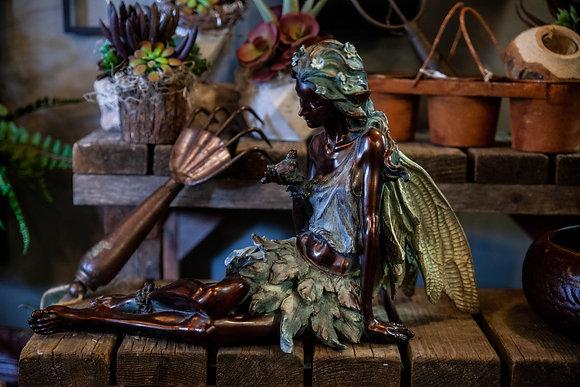 Garden Fairy Statue - Sitting