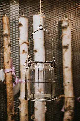 "11"" Glass Lantern"