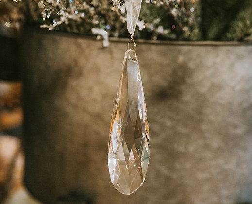 Crystal Ornament - Short Drop